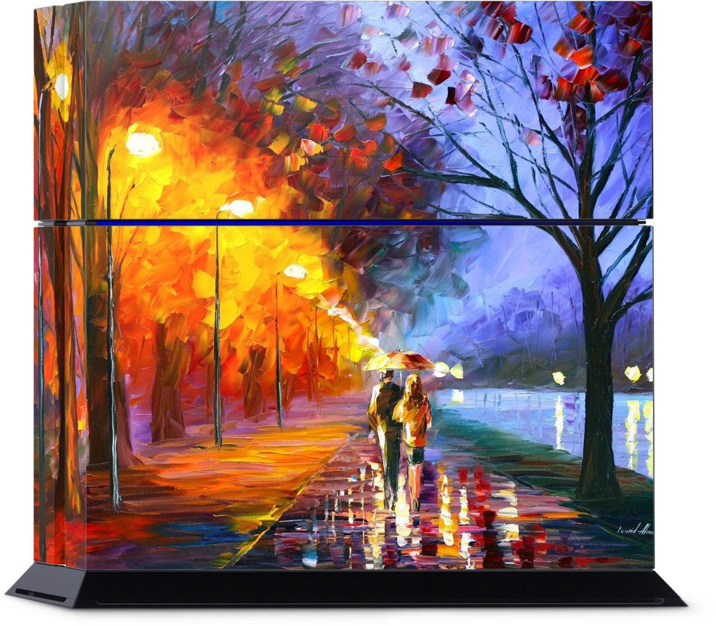 ALLEY BY THE LAKE by Leonid Afremov PlayStation Skin