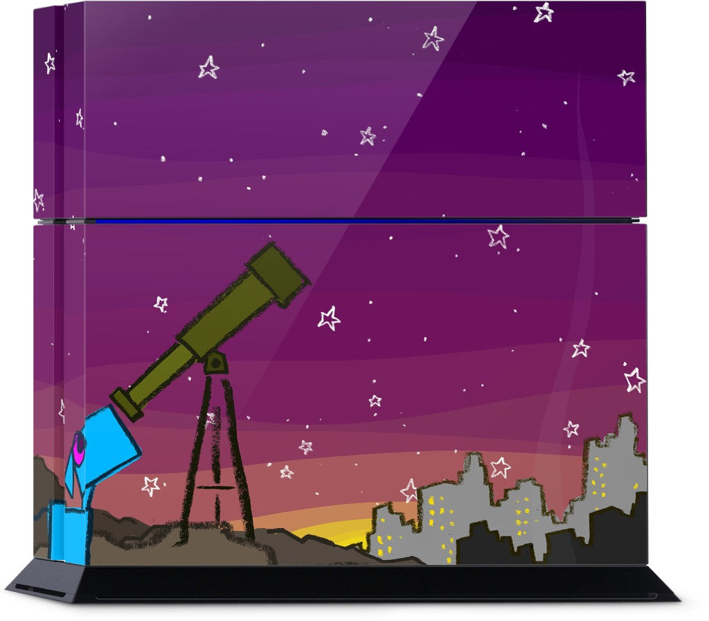 Space Dog Telescope PlayStation Skin