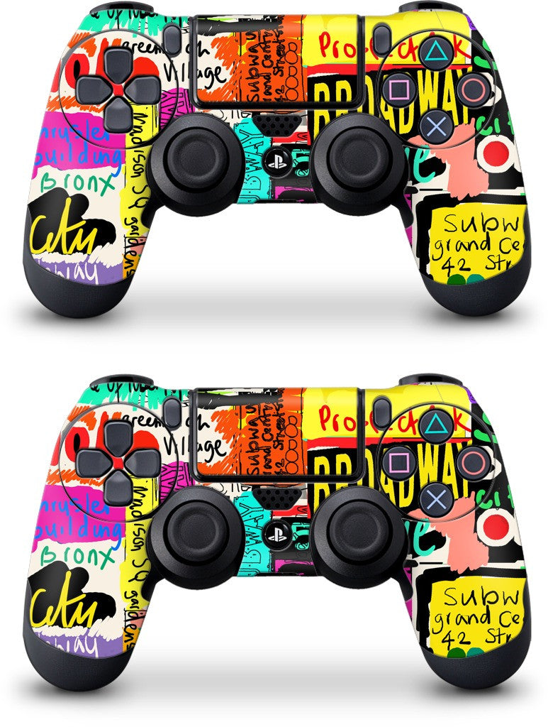 NYC Words PlayStation Skin