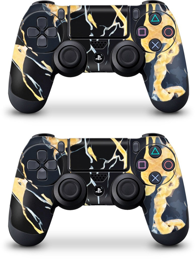 Black Marble PlayStation Skin