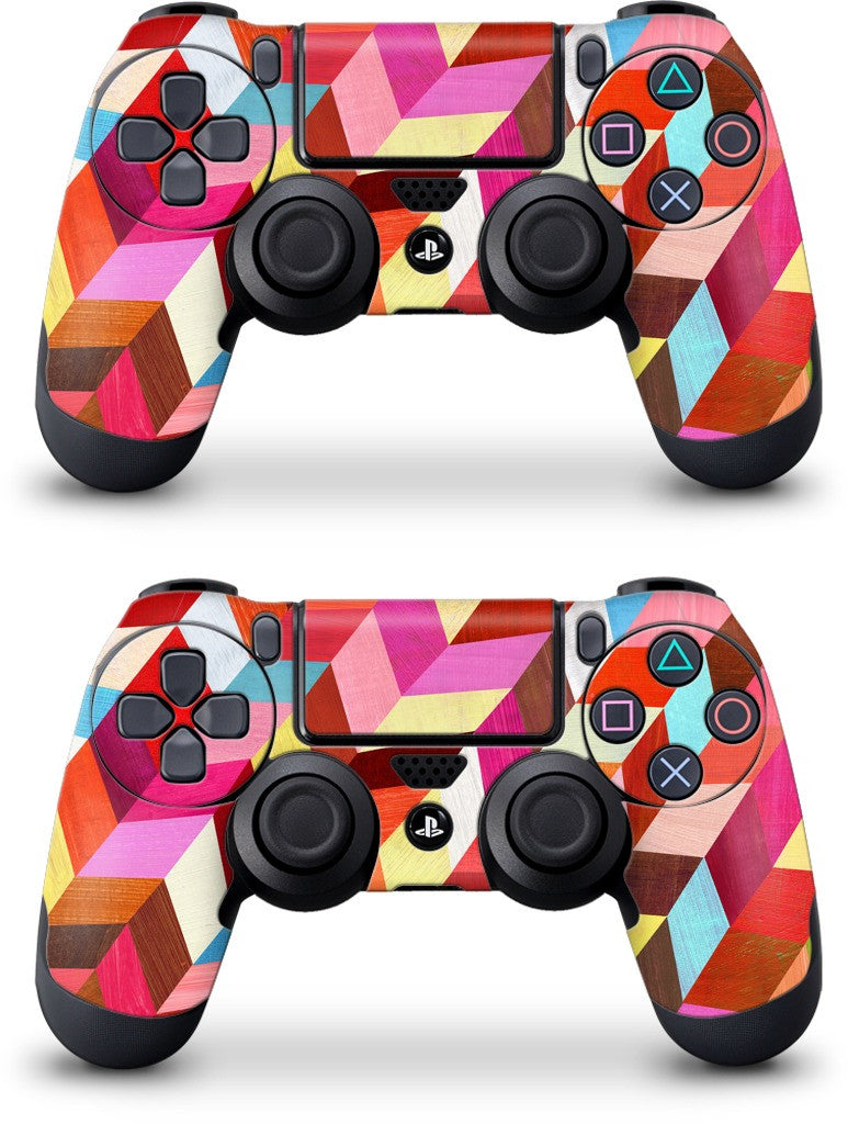 Red Rhombus PlayStation Skin