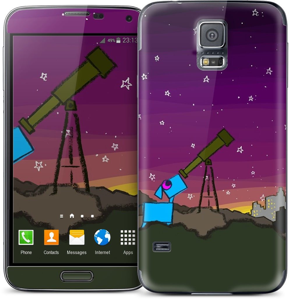 Space Dog Telescope Samsung Skin