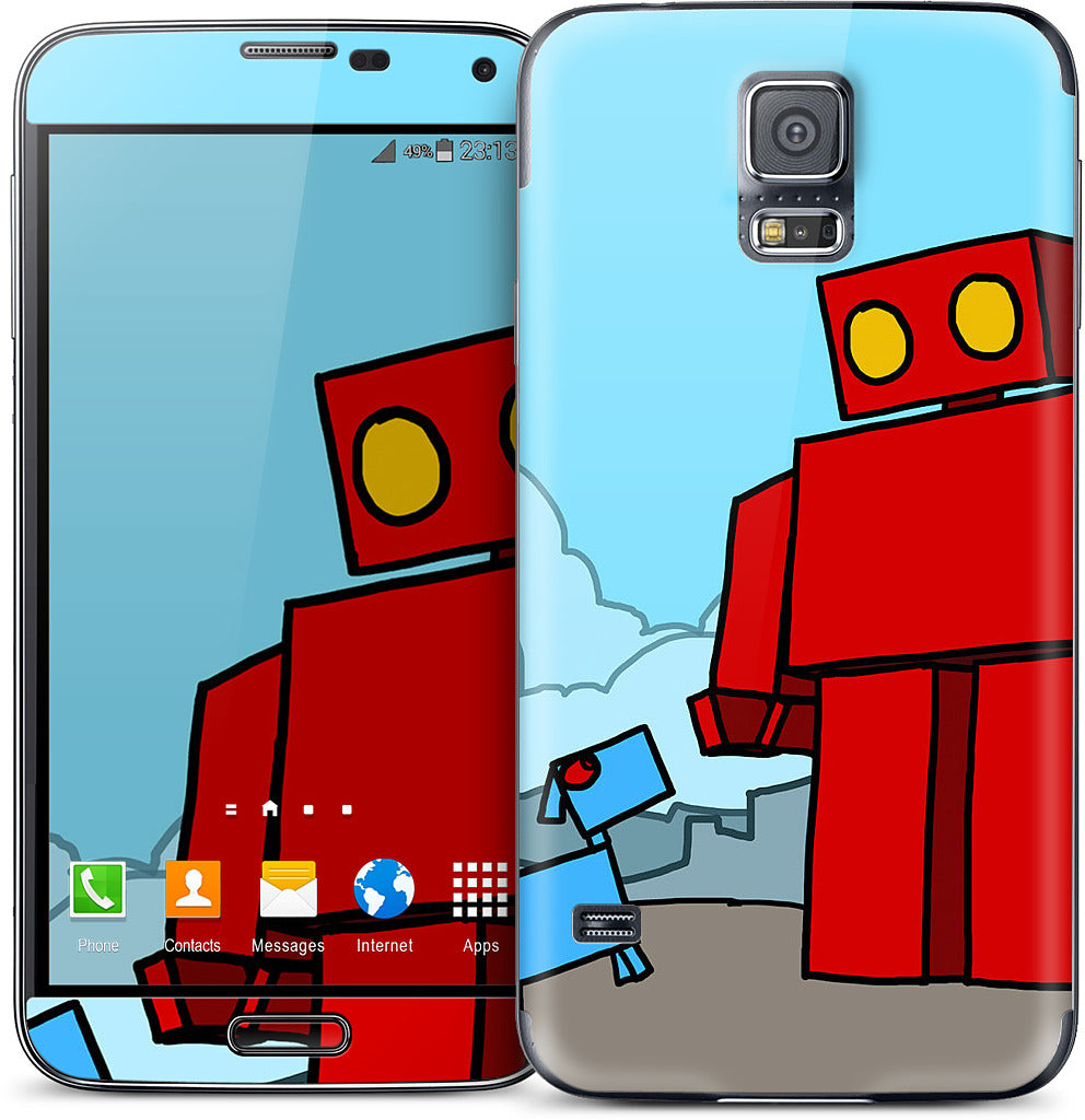 Red Robot Leaving The City Samsung Skin