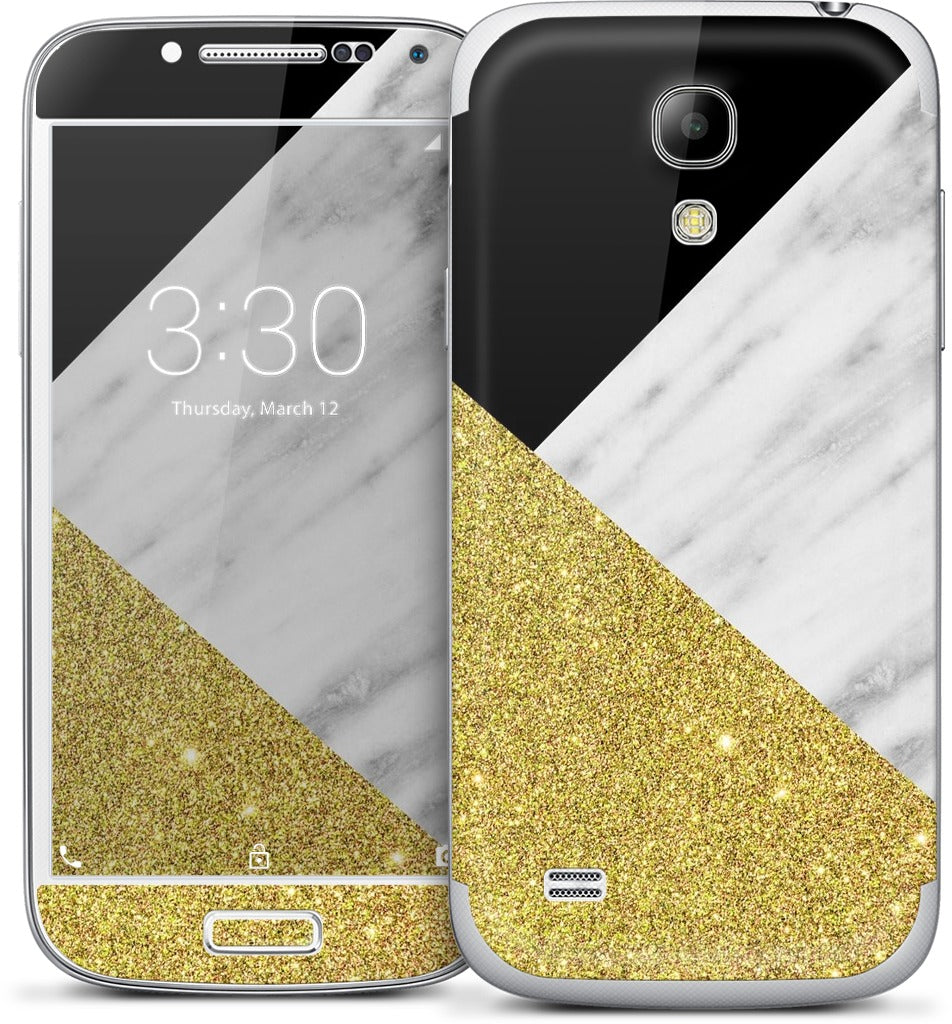 Gold and Real Italian Marble Collage Samsung Skin