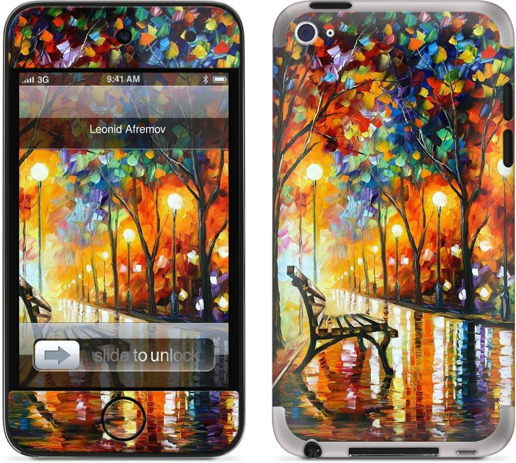 THE LONELINESS OF AUTUMN by Leonid Afremov iPod Skin