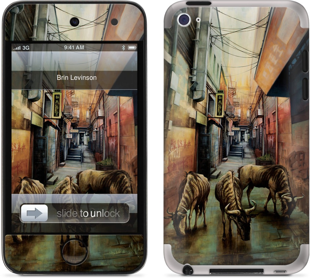 """Street of Three Beasts"" -Levinson iPod Skin"
