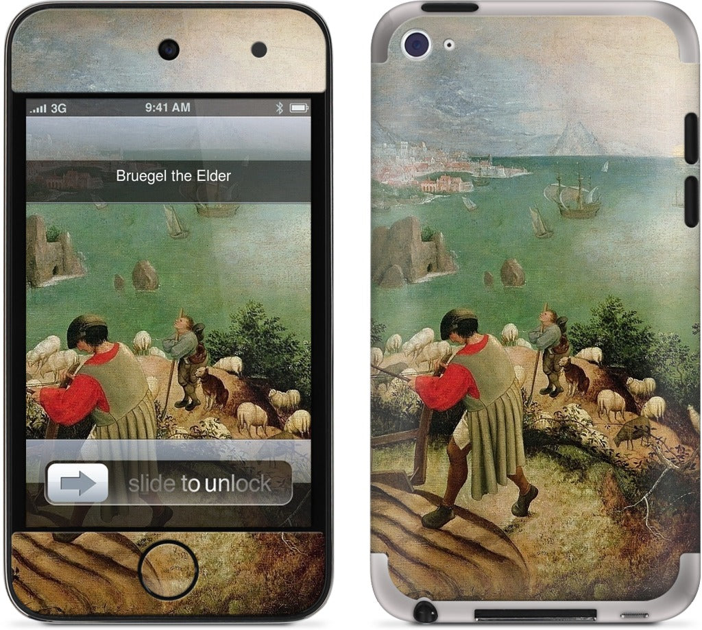 Landscape with the Fall of Icarus iPod Skin