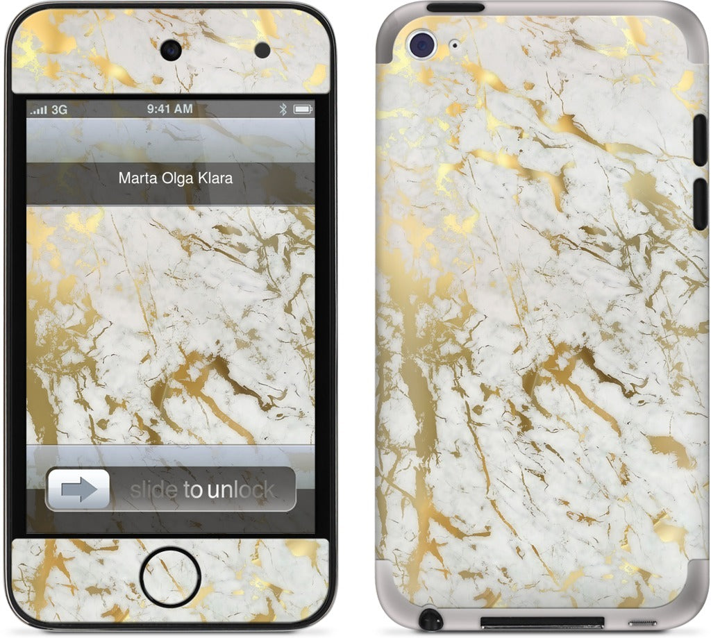 Gold Marble iPod Skin