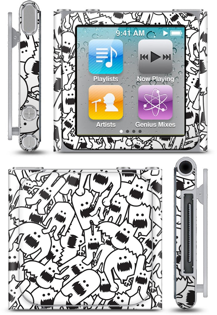 Monster Collage iPod Skin