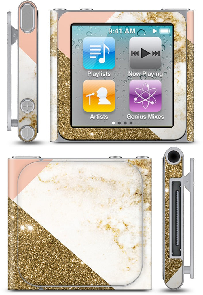 Gold Marble Collage  iPod Skin