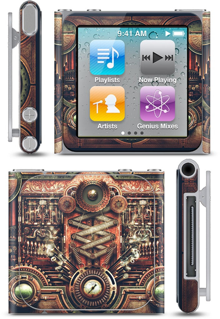 Steampunk Motherboard iPod Skin