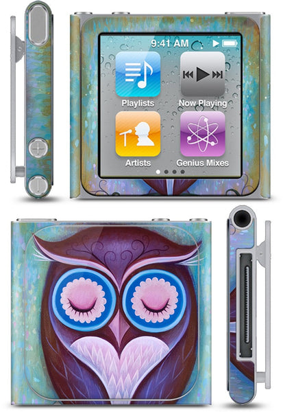 Sleepy Owl iPod Skin