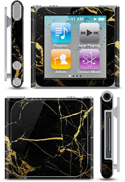 Black and Gold Marble iPod Skin