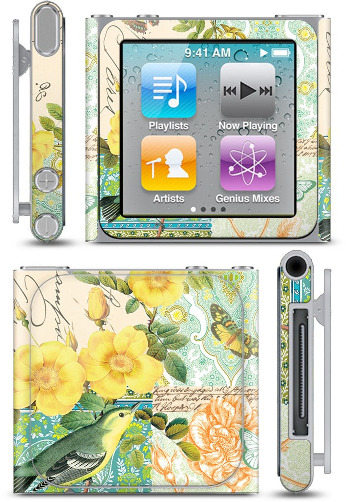 Yellow Bird iPod Skin