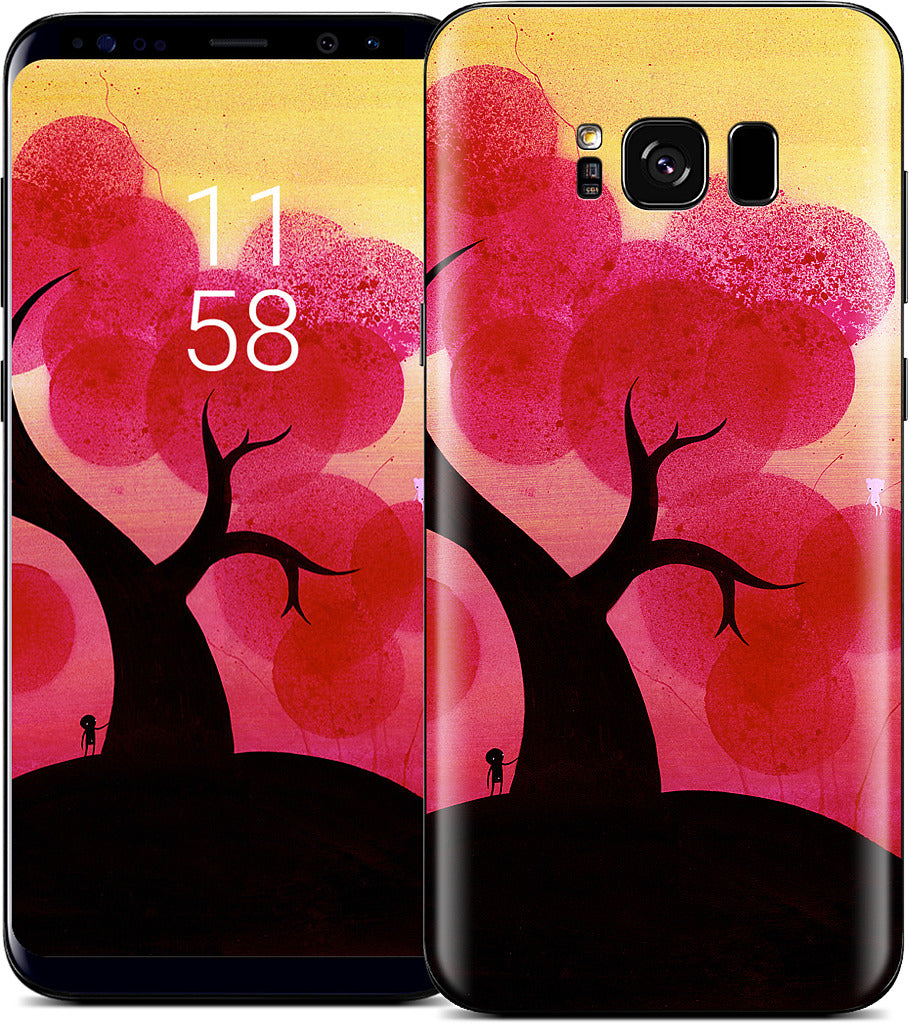 Red Blossoms Samsung Skin