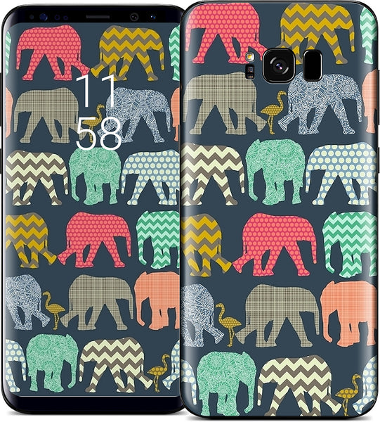 baby elephants and flamingos Samsung Skin