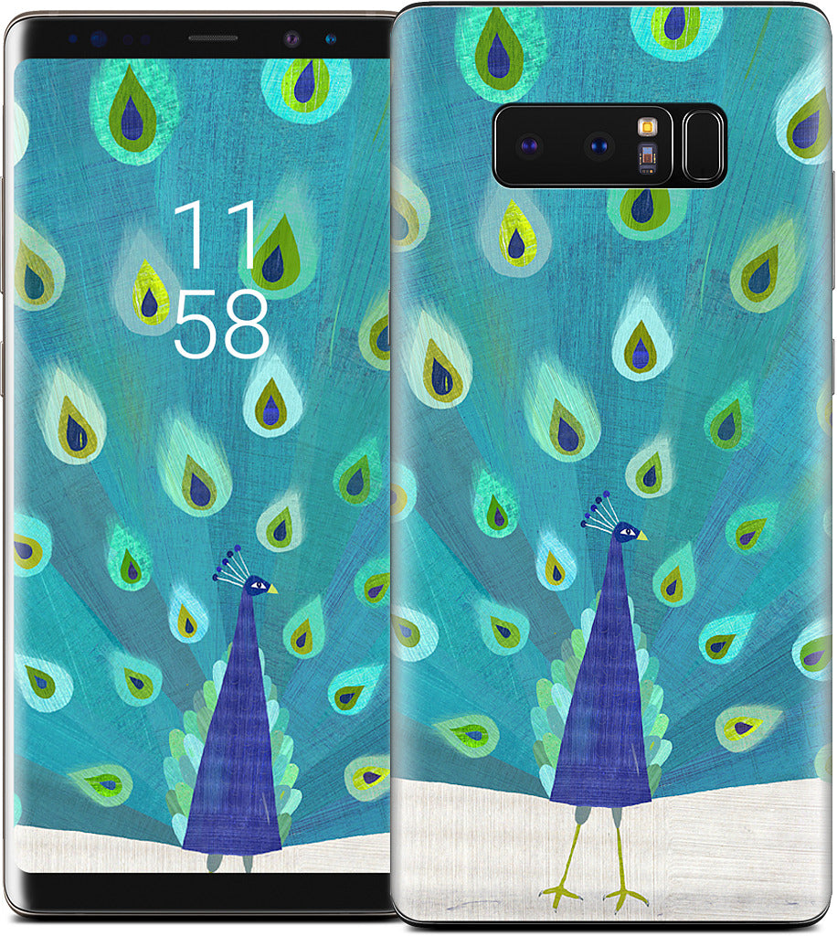 Patterned Peacock Samsung Skin
