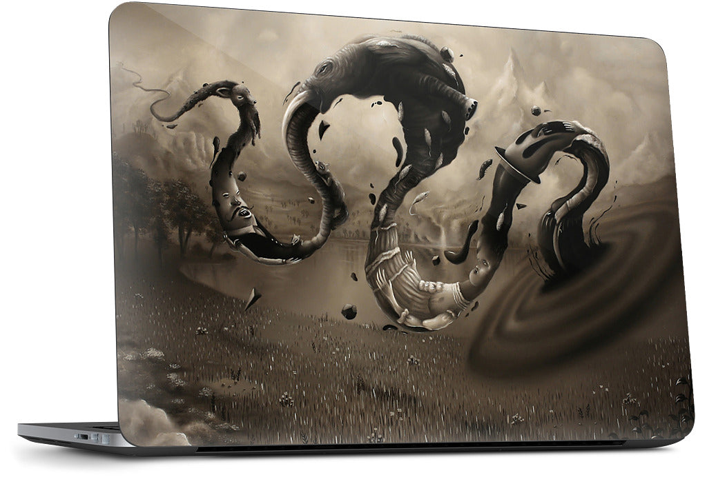 Spiral Hole Dell Laptop Skin