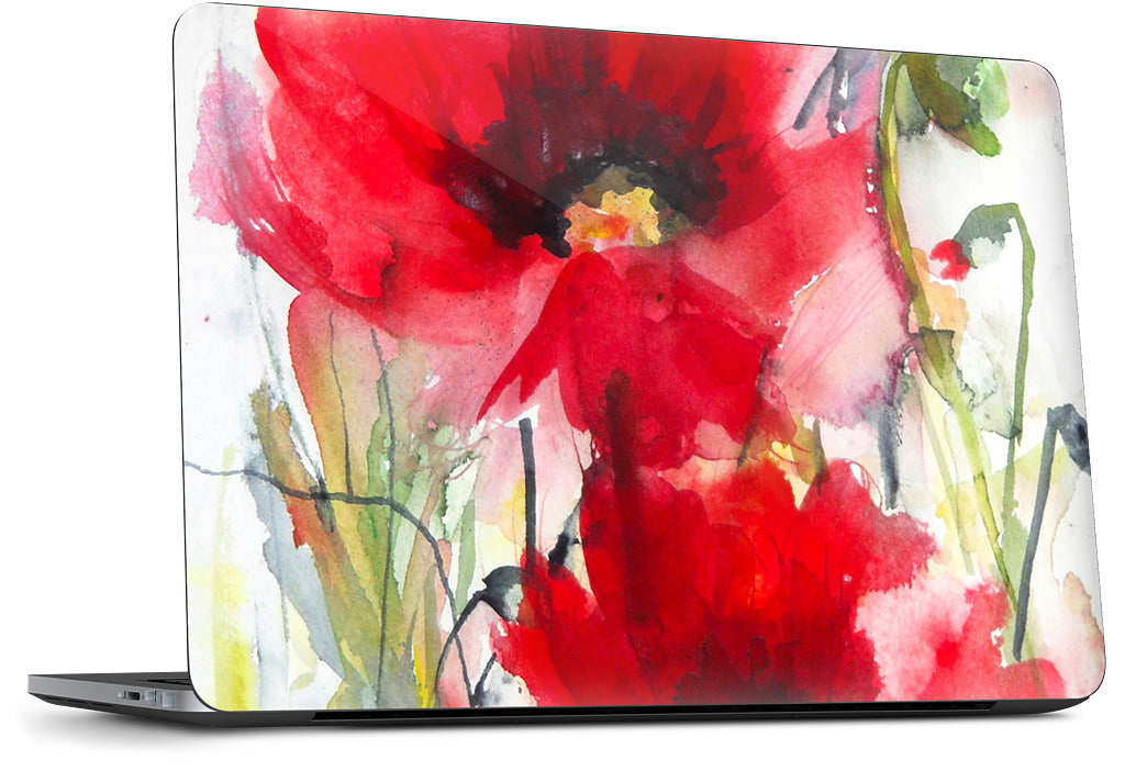 Red Poppies Dell Laptop Skin