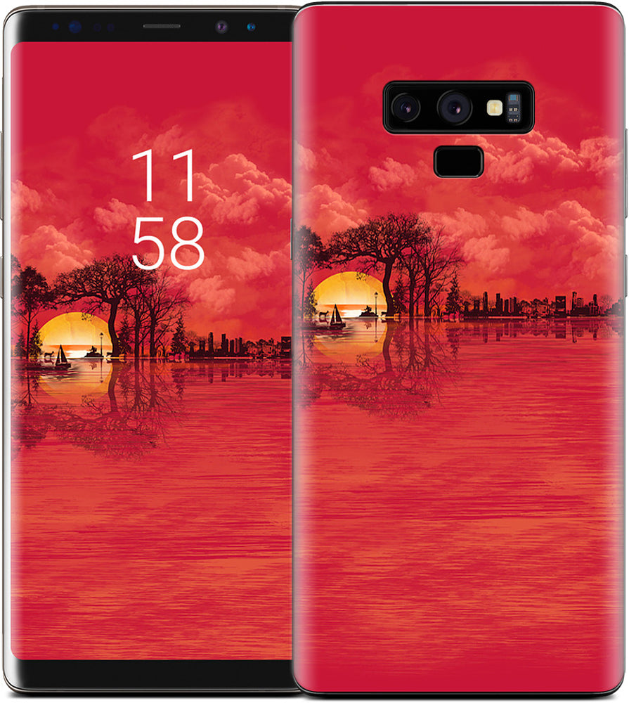 Musical Sunset Samsung Skin