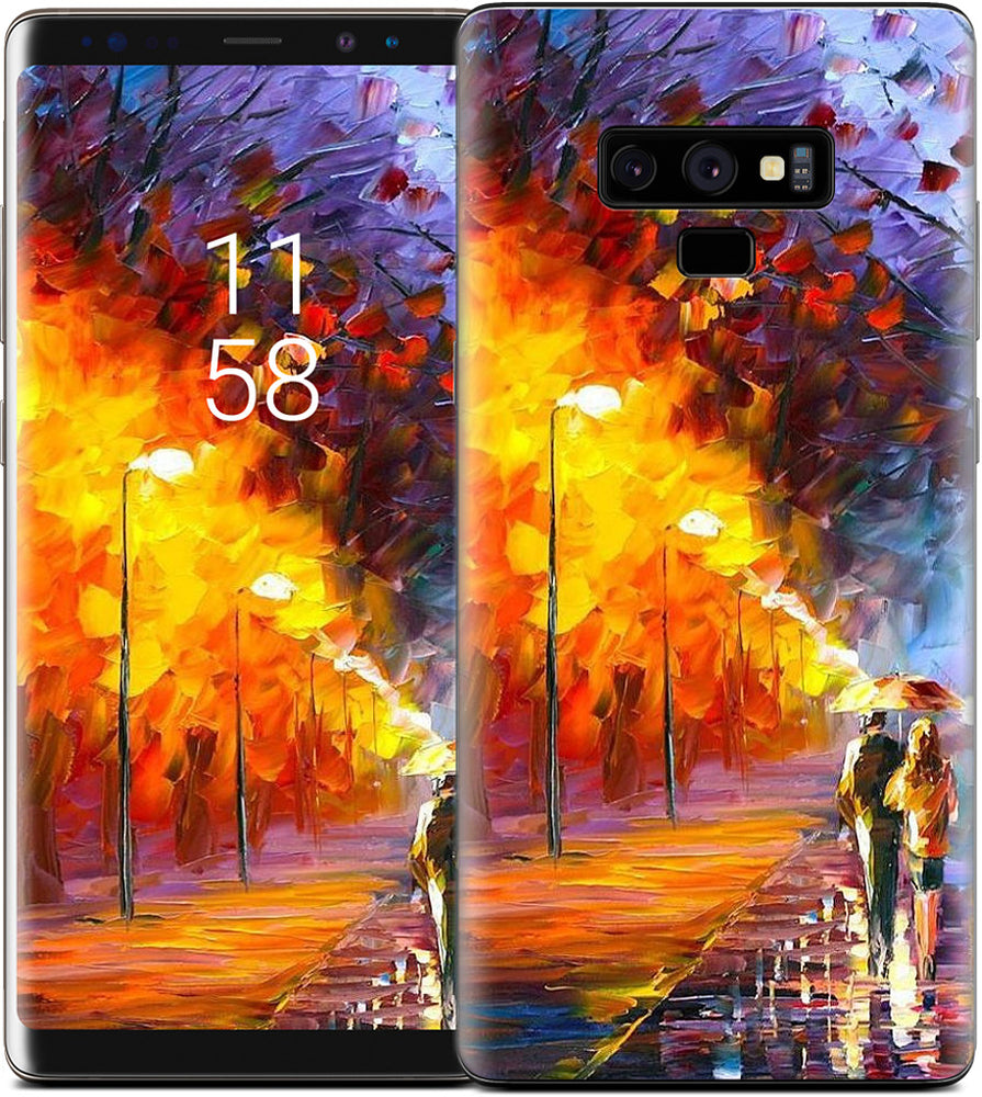 ALLEY BY THE LAKE by Leonid Afremov Samsung Skin