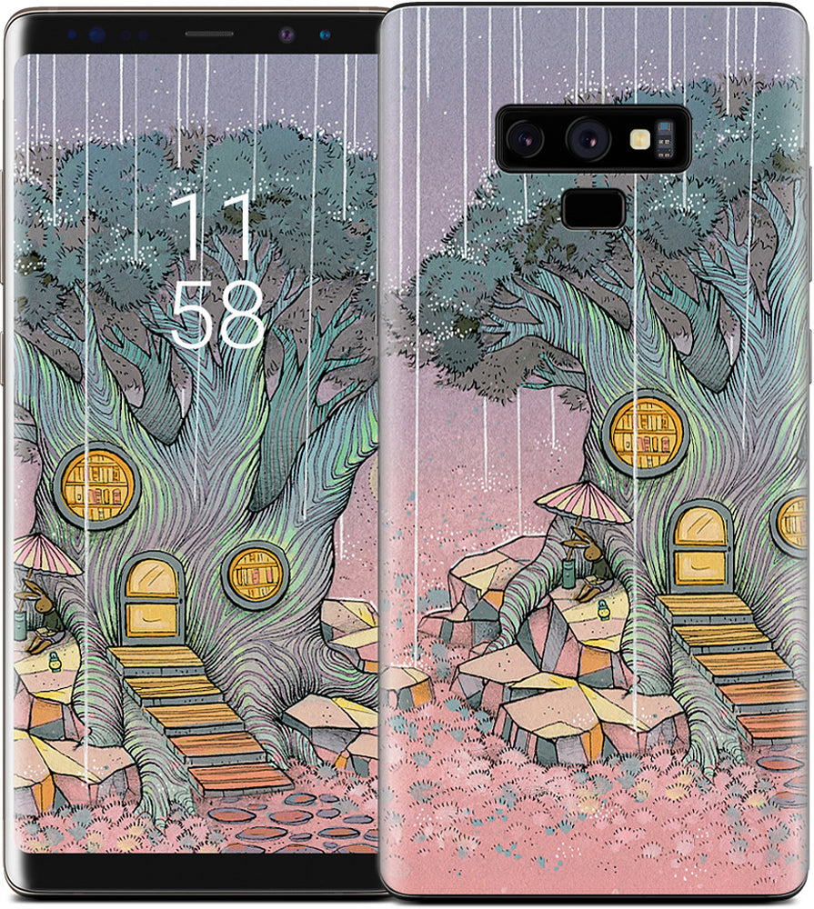 Rainy Day In The Library Samsung Skin