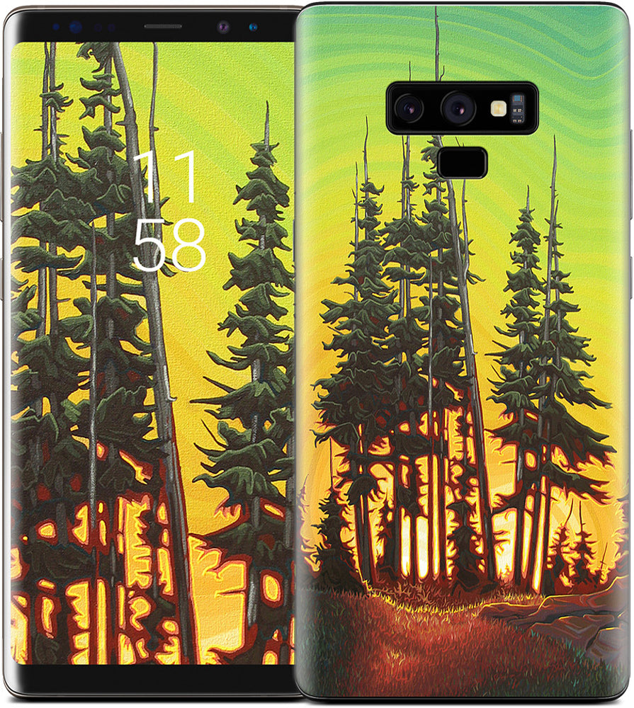 Green Skies At Night Samsung Skin