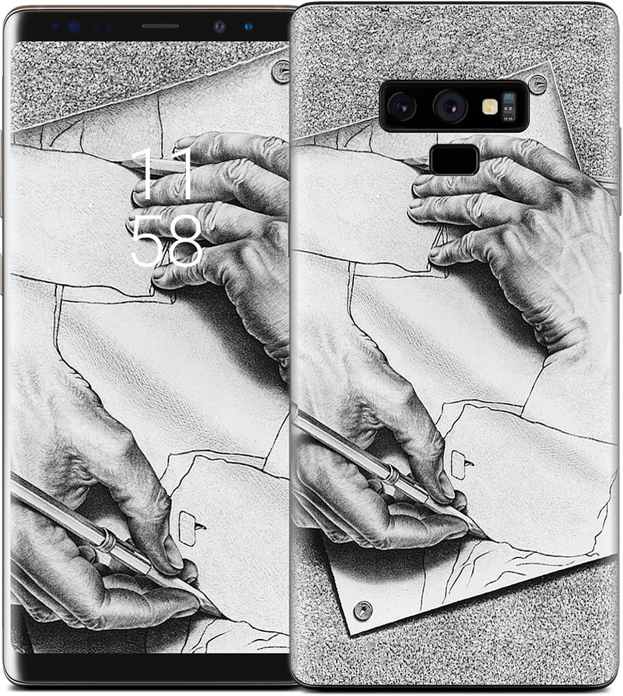 Drawing Hands Samsung Skin