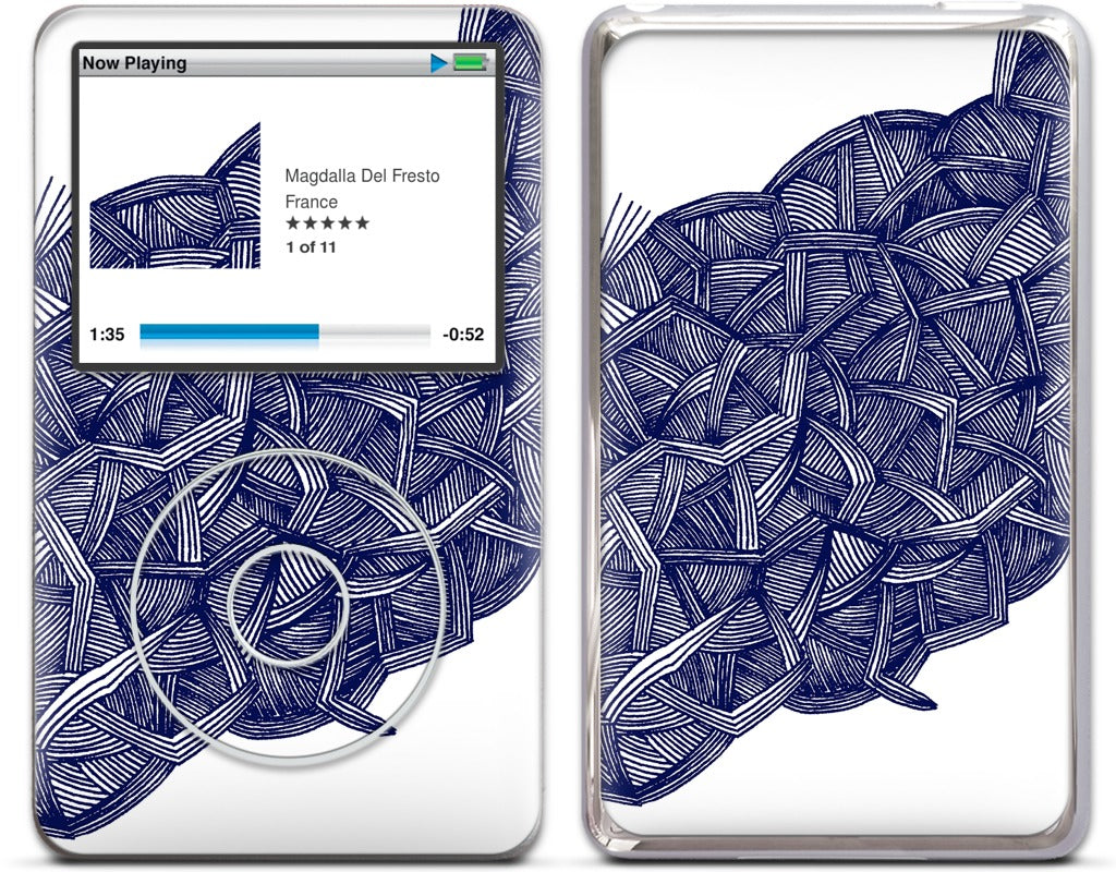 blue lines iPod Skin