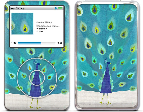 Patterned Peacock iPod Skin