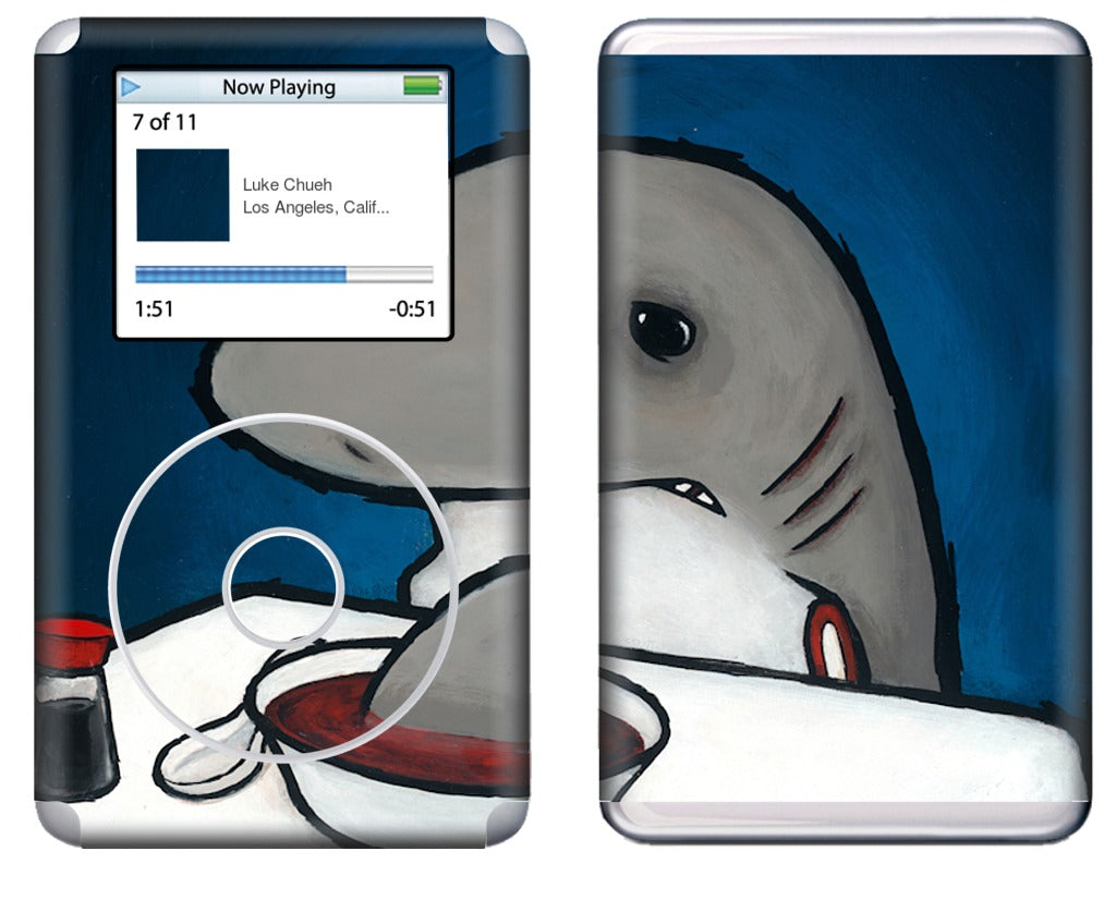 You Are What You Eat Shark Fin iPod Skin