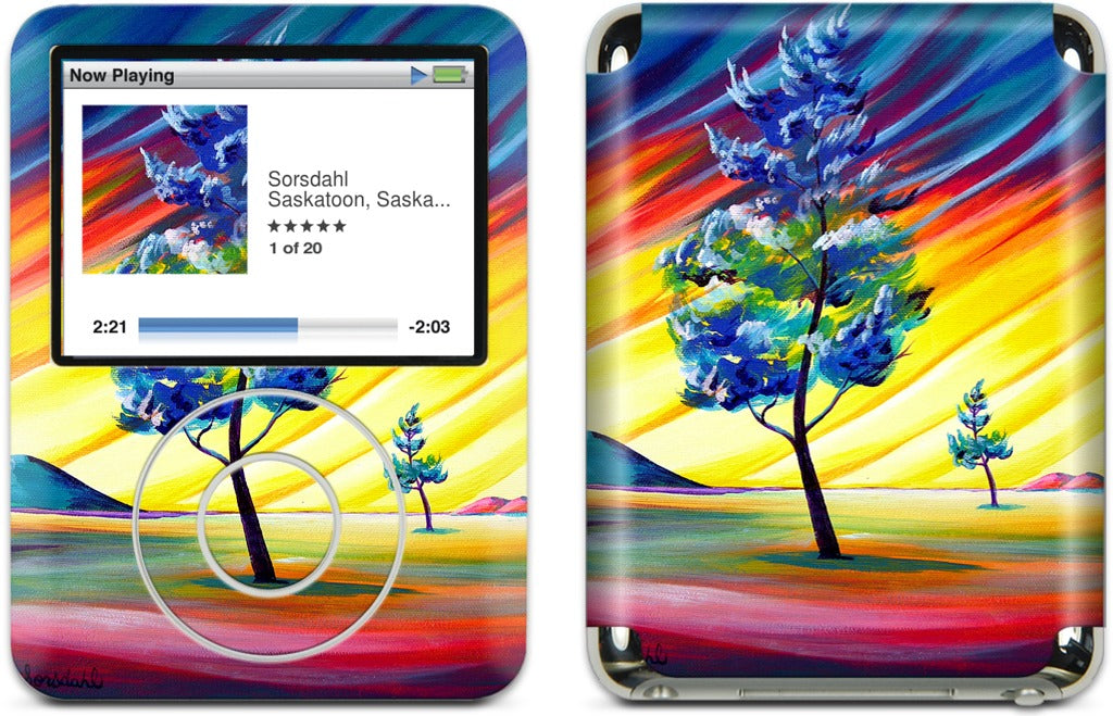 Thick Frost Sunset Glow iPod Skin