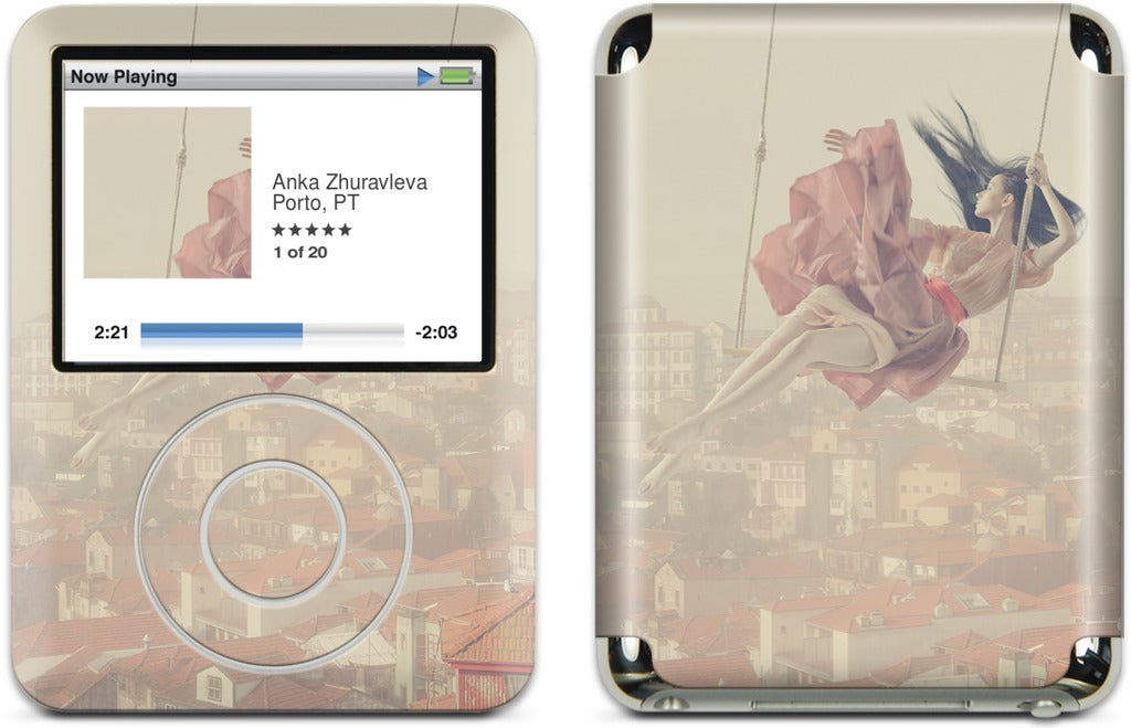 Swinging Over Oporto iPod Skin