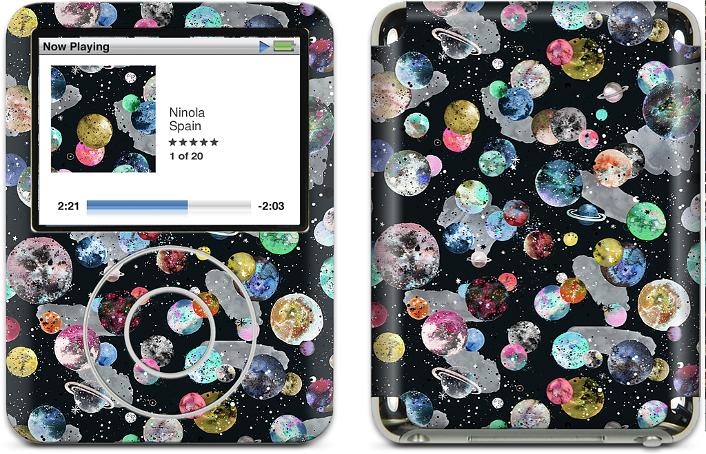 Cosmic Collage iPod Skin