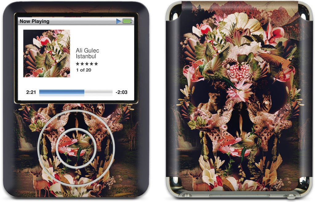Jungle Skull iPod Skin