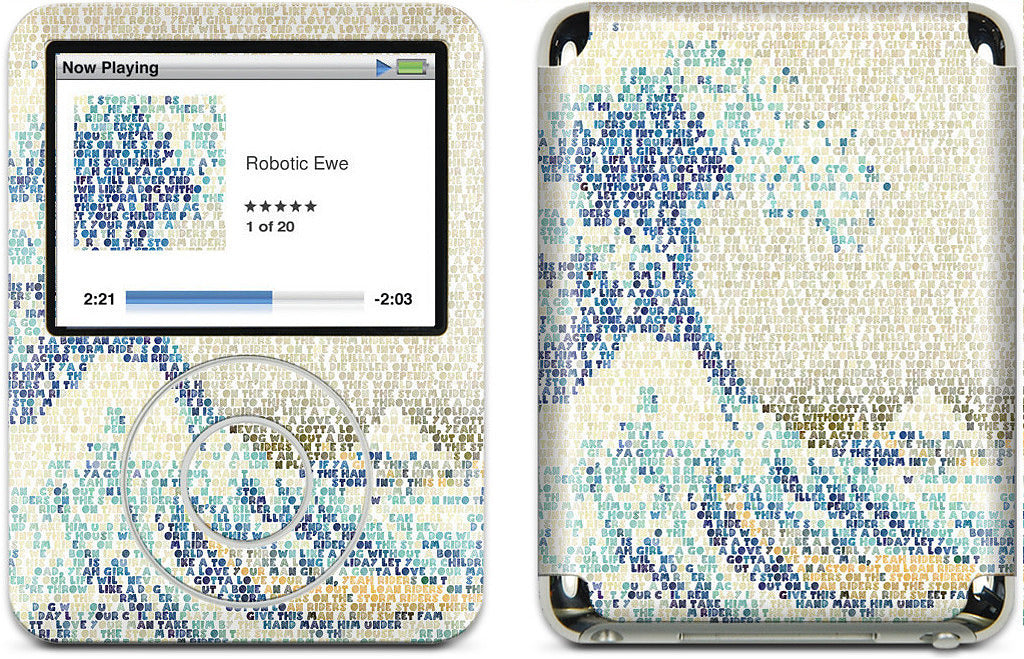 Riders On The Great Wave iPod Skin