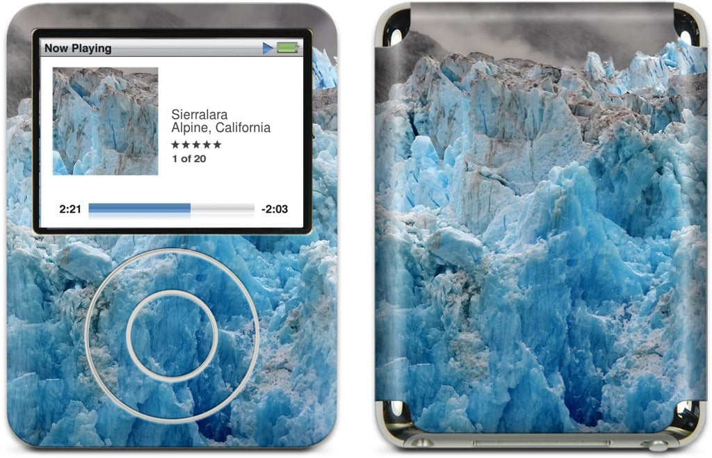 Blue Ice of the South Sawyer Glacier iPod Skin