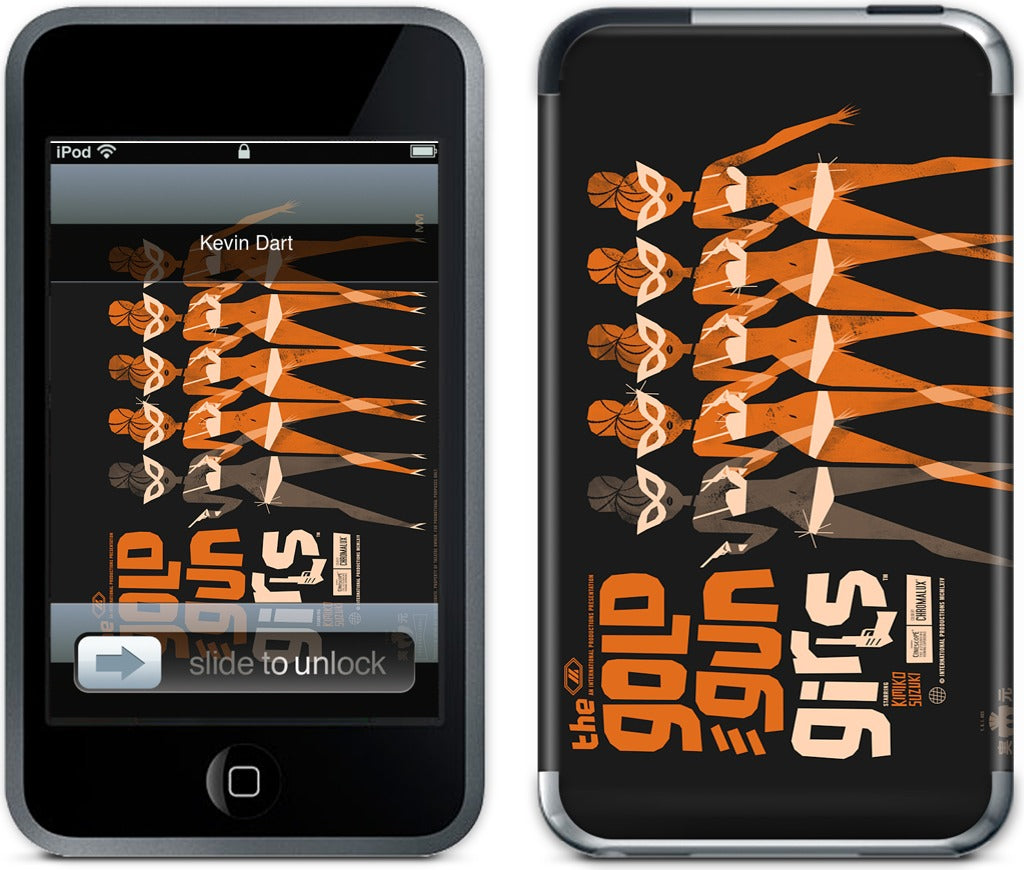 Gold Gun Girls iPod Skin