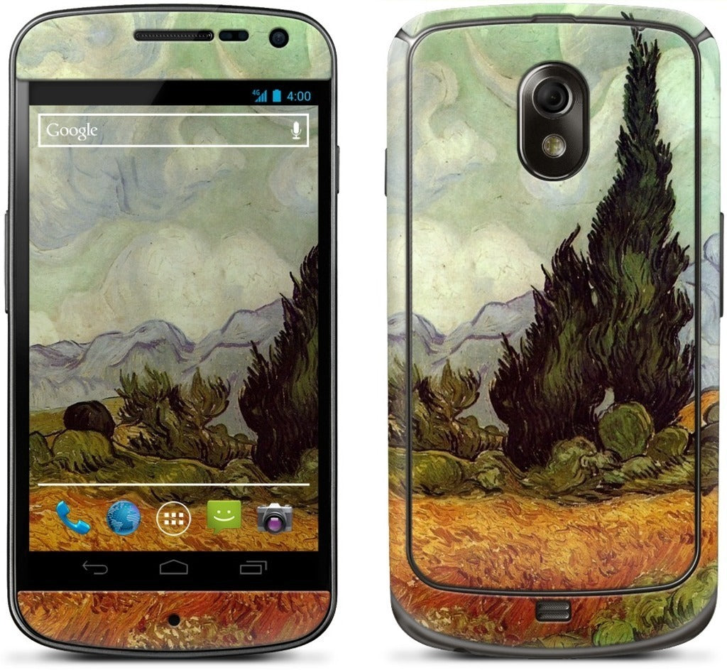 A Wheatfield with Cypresses Samsung Skin