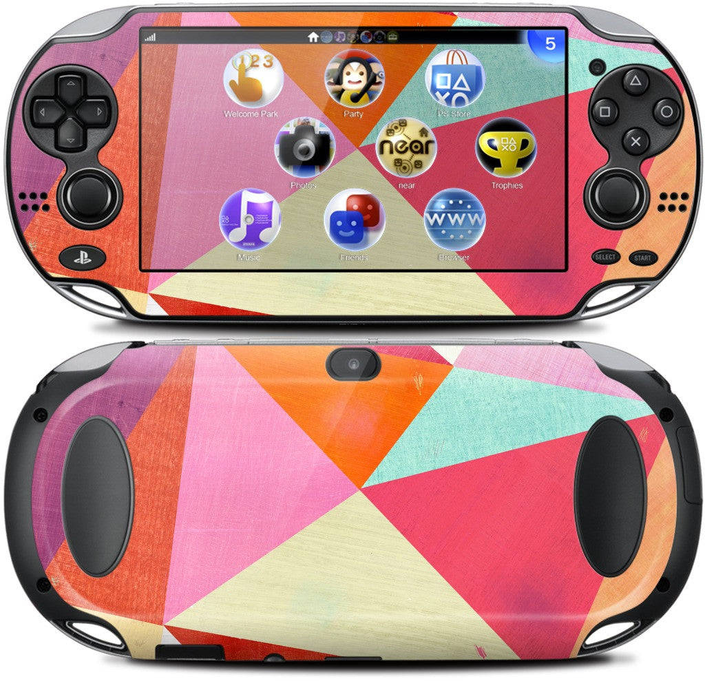 Pink Triangle PlayStation Skin