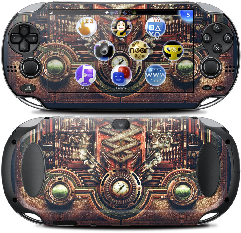 Steampunk Motherboard PlayStation Skin