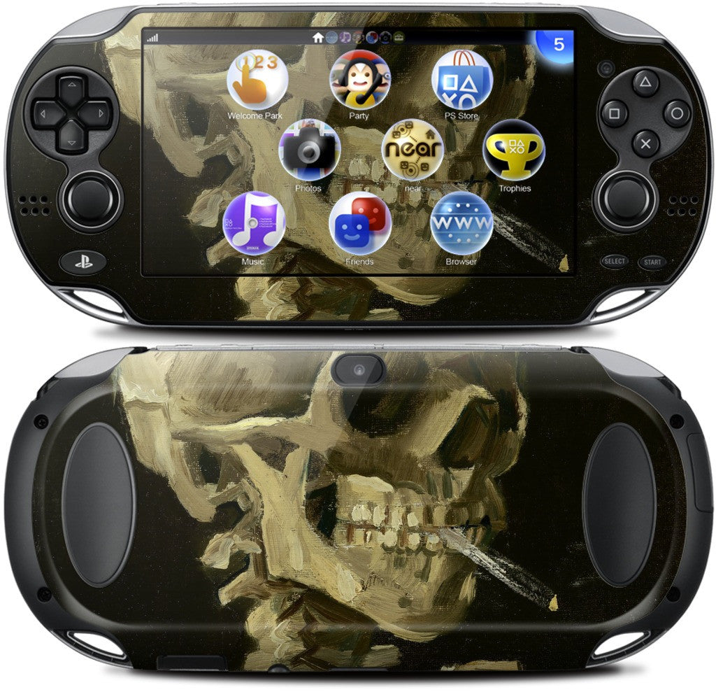 Skull of a Skeleton with Burning Cigarette PlayStation Skin