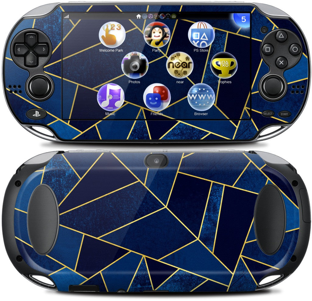 Blue Stone / Gold Lines PlayStation Skin