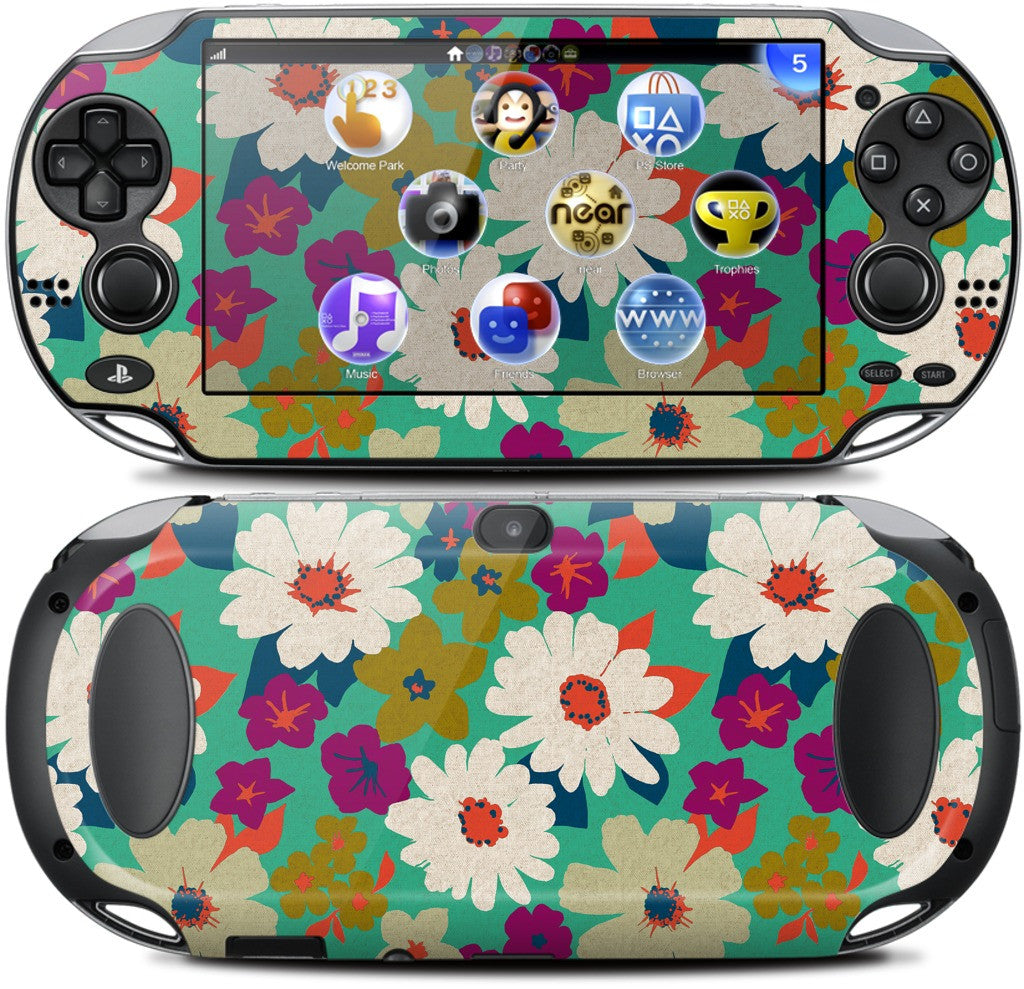Vintage Flowers PlayStation Skin