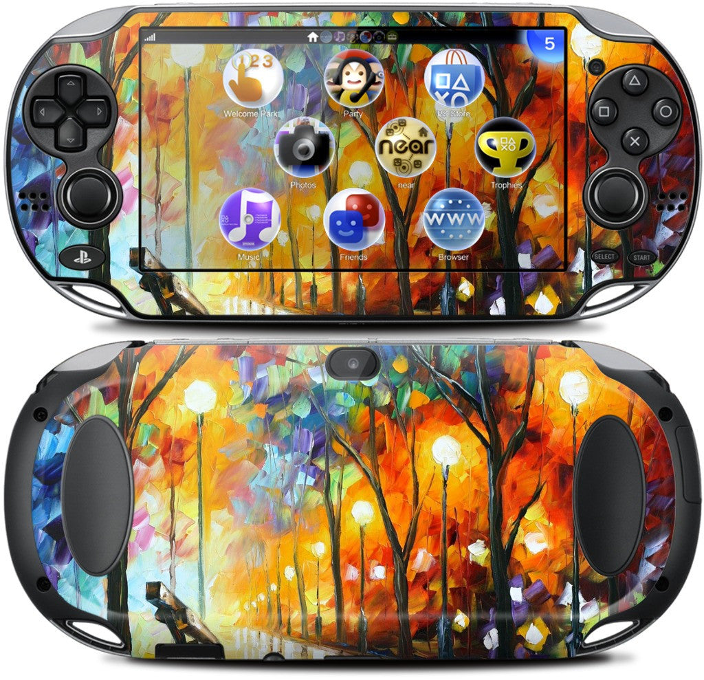 THE LONELINESS OF AUTUMN by Leonid Afremov PlayStation Skin