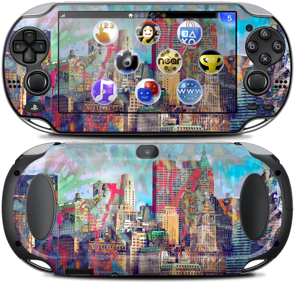 Graffiti Skyline PlayStation Skin