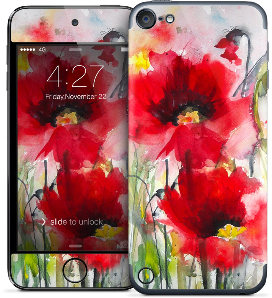 Red Poppies iPod Skin