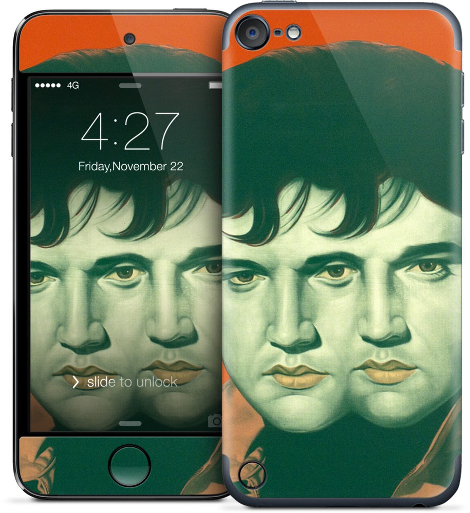 Orange Double Elvis iPod Skin