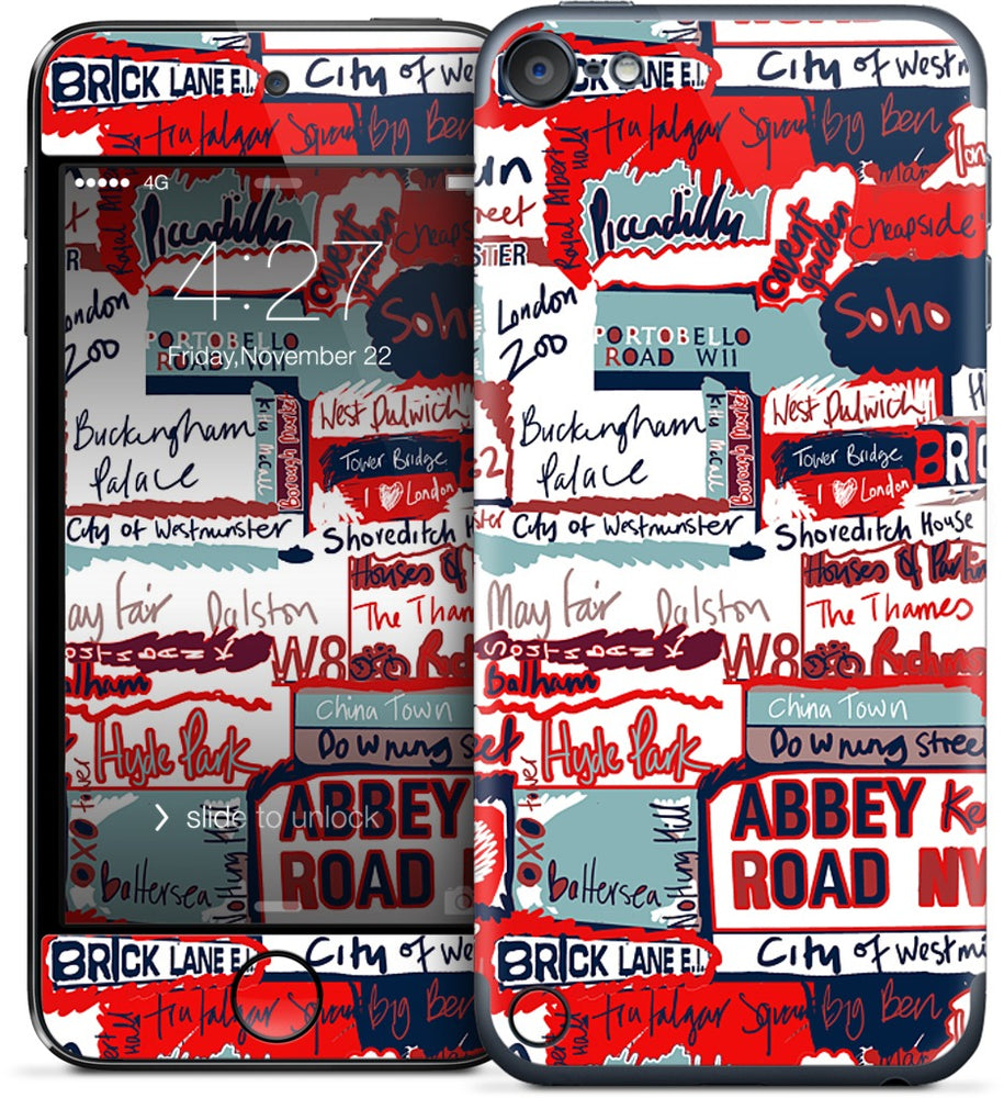 London Words iPod Skin