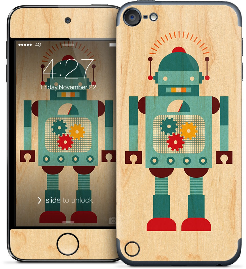 Blue Robot iPod Skin